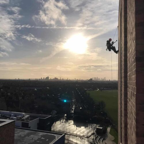 Mastic Application and Rendering using Rope Access